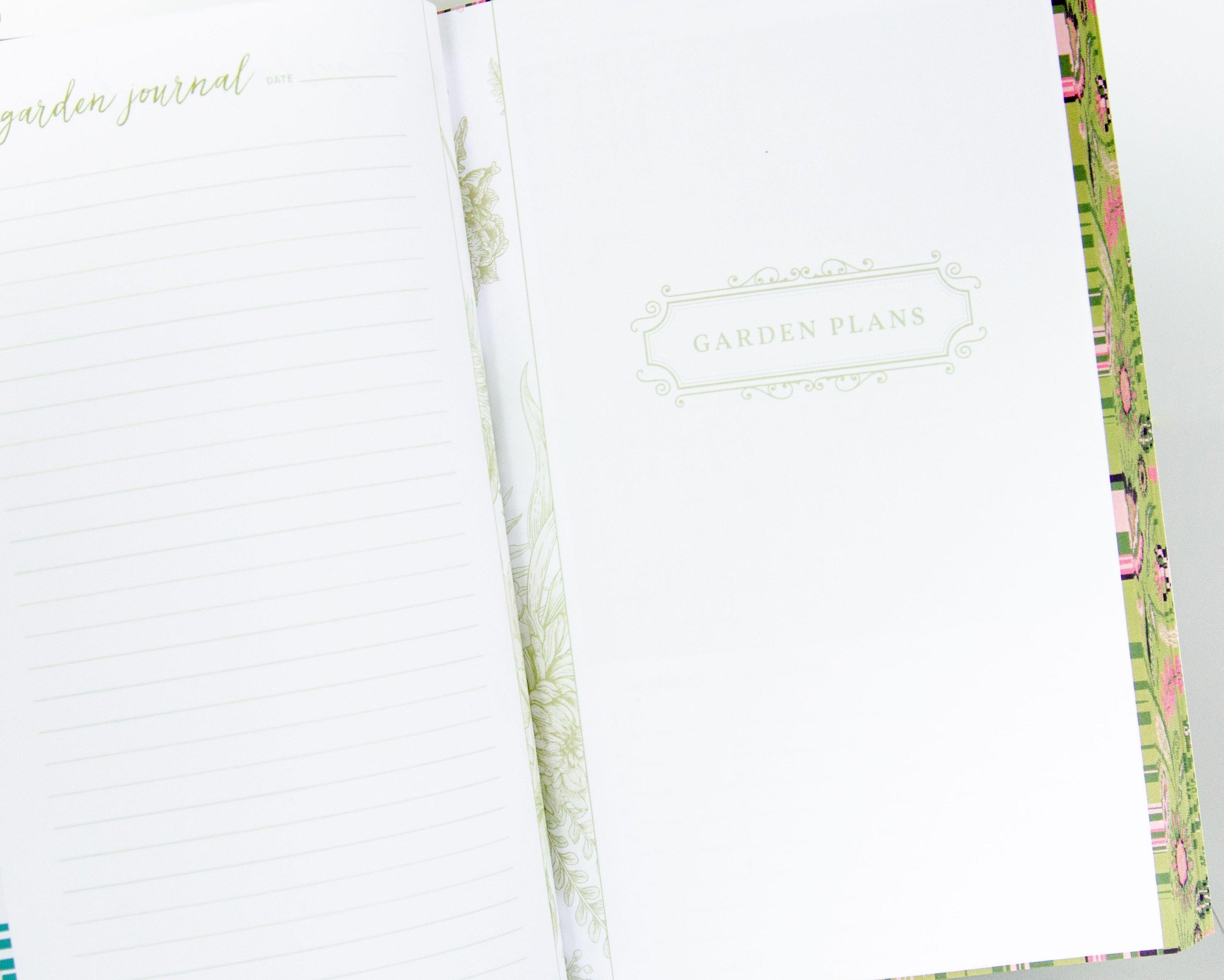Garden Book - Garden Plan Cover Page