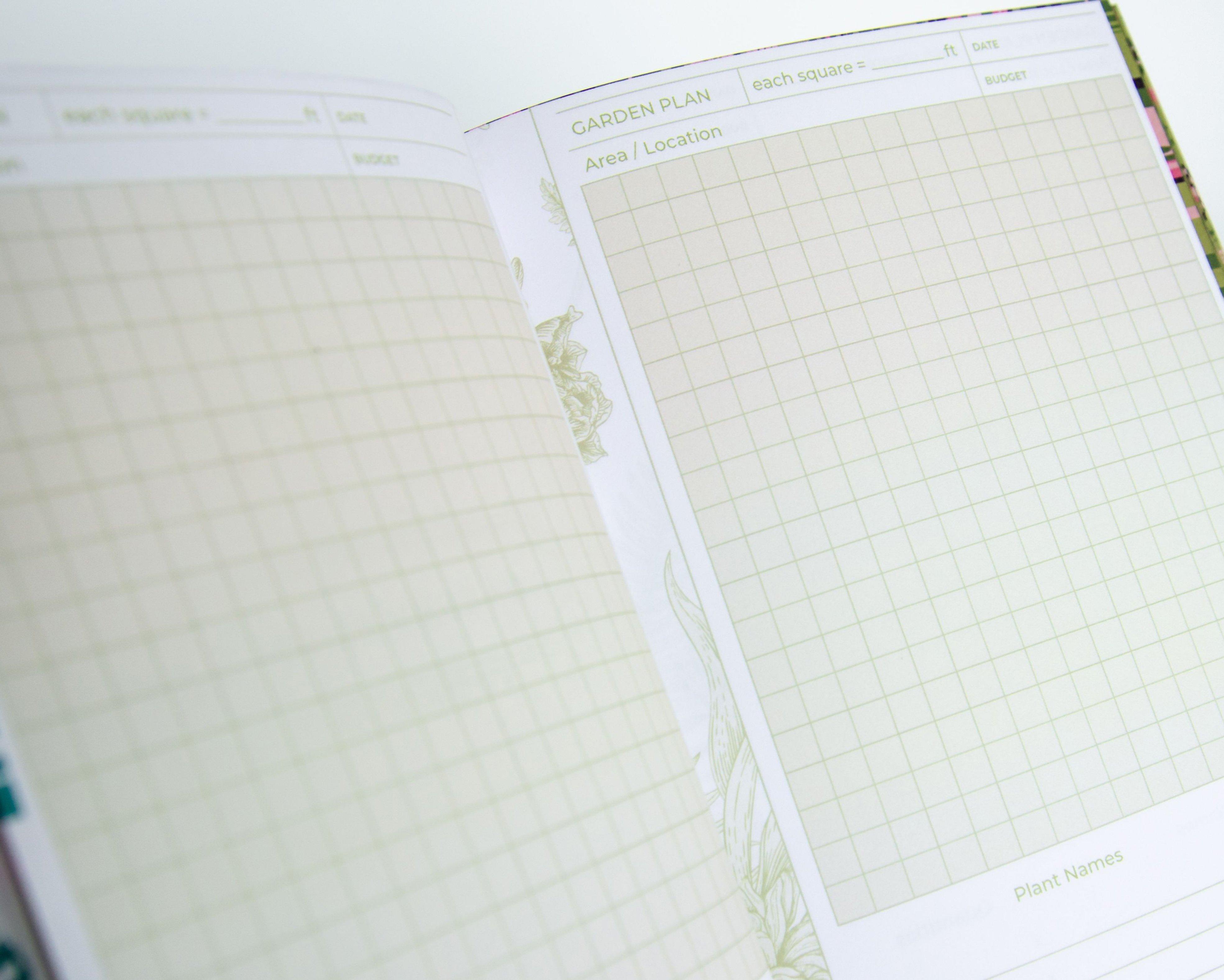 Garden Book - Garden Plan Pages