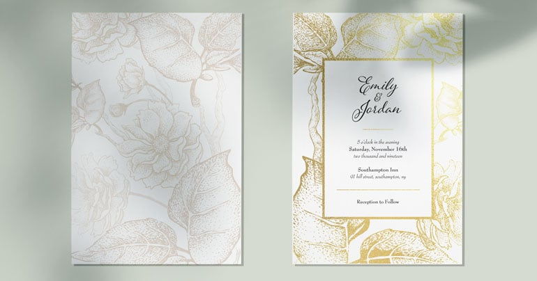 Another Wedding Invite Gold
