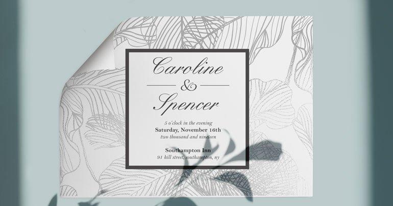 Wedding Invite Silver