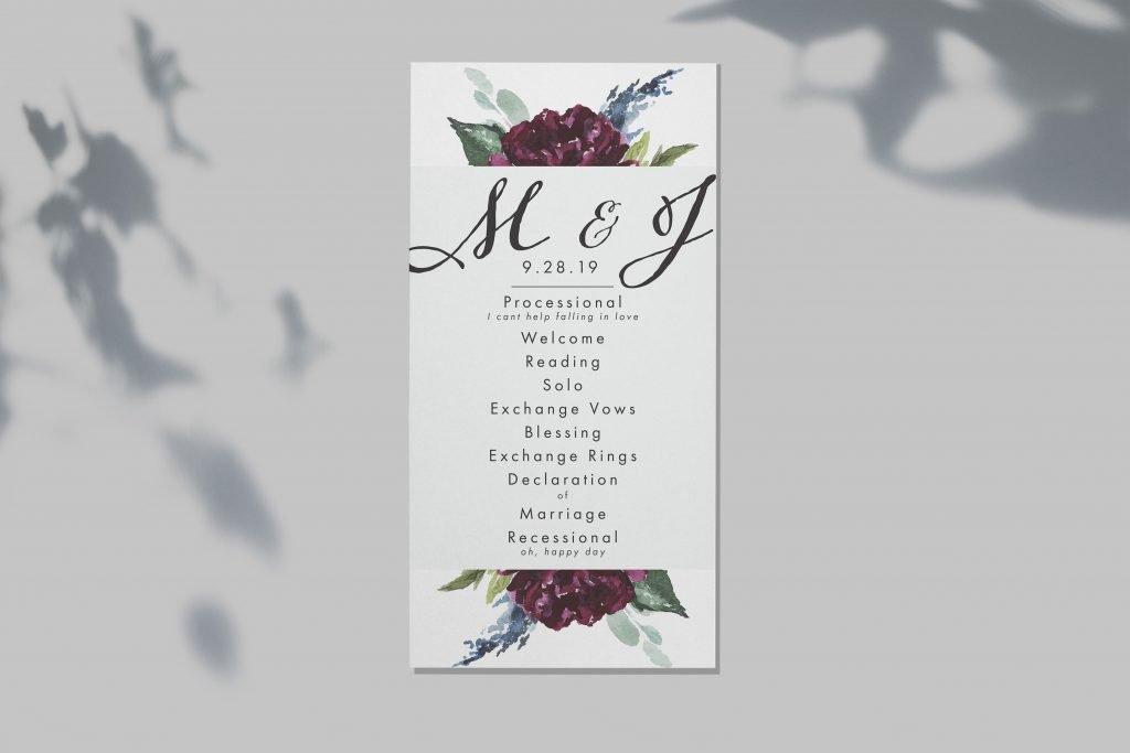 Final Wedding Invitation Samples