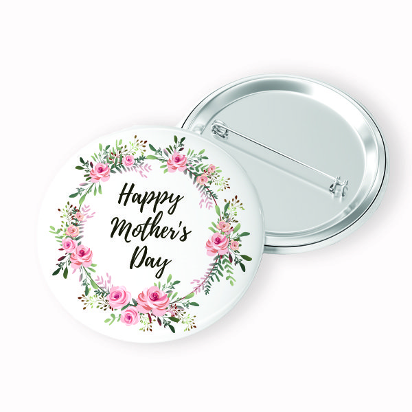 Mother's Day Button Front and Back