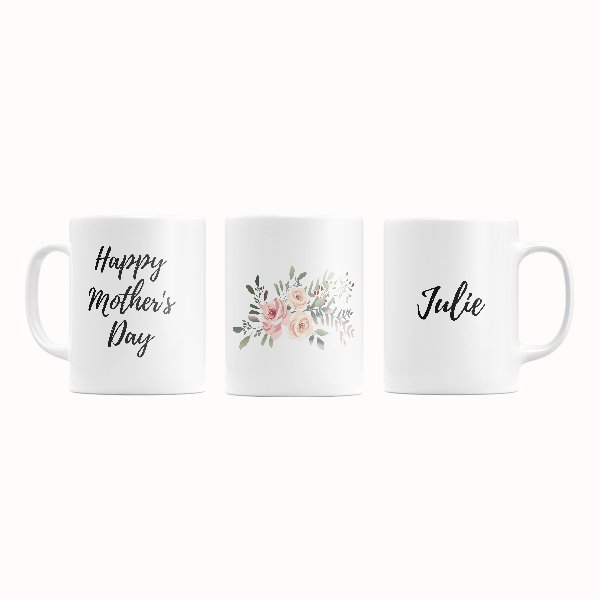 Mother's Day Mug Left Middle Right View